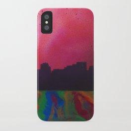 Neon Skyline iPhone Case