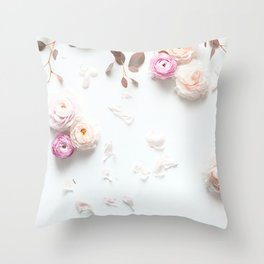 SPRING FLOWERS IN BLUSH 1 Throw Pillow