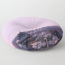 Pink Sky in Seoul Floor Pillow
