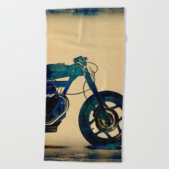Metalic Blue Beach Towel