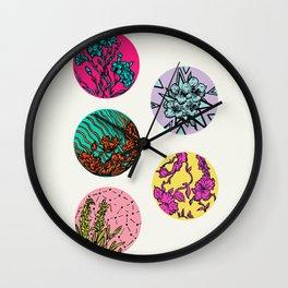 Floral Disks Wall Clock
