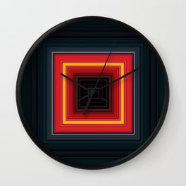 Bright Red Square Design Wall Clock