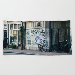 Streets of Amsterdam Beach Towel