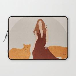 Woman with Cheetahs Laptop Sleeve