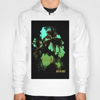 miami Hoodies featuring MIAMI by rauldesigns