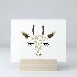 Giraffe Drawing Mini Art Print