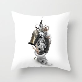 EAT, SLEEP AND DIE (Totem of the Human) Throw Pillow