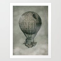 voyage Art Prints featuring Dark Voyage by Eric Fan