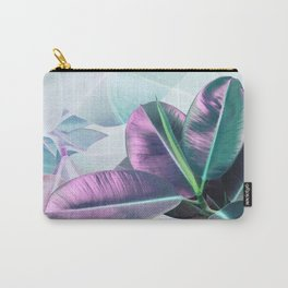 Violet Tropical Plant Carry-All Pouch