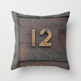 Number Twelve Throw Pillow
