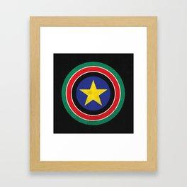 Captain South Sudan Framed Art Print