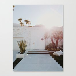 Palm Springs Sunset Canvas Print