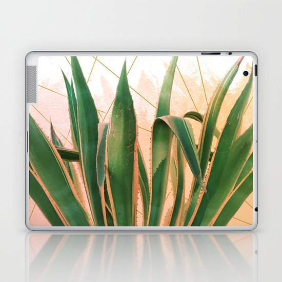 Cactus with geometric Laptop & iPad Skin