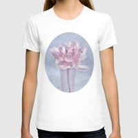 peony T-shirts featuring PEONY by INA FineArt