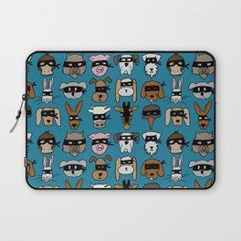 Ninja Animal Gang - Blue Laptop Sleeve