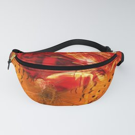 Butterfly in red universe Fanny Pack