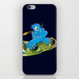 Blue monster dj hip hop iPhone Skin