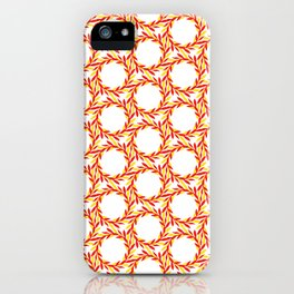 circle leaves pattern iPhone Case