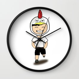 Chicken Boy Wall Clock
