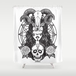 Satanic Princess Shower Curtain