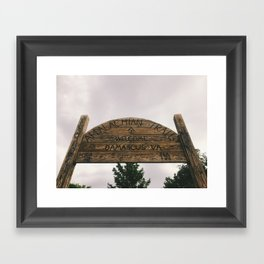 Welcome To Damascus • Appalachian Trail Framed Art Print