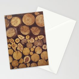 pile of wood Stationery Cards