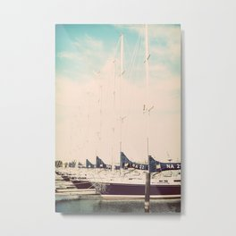 Navy Boat Metal Print
