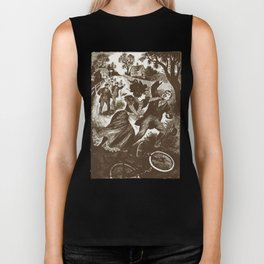 """Thrashed by a Lady Cyclist"" Vintage 1899 Biker Tank"