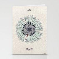 fibonacci Stationery Cards featuring Fibonacci by Jennifer Thy