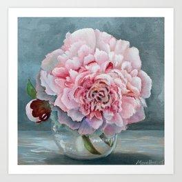 Peony Memories Flower Painting Art Print