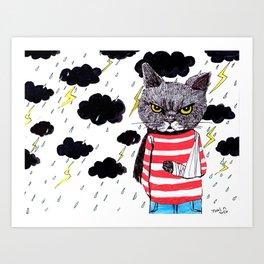When It Rains, It Pours... Art Print