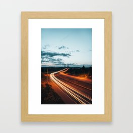 Highway Lights Framed Art Print