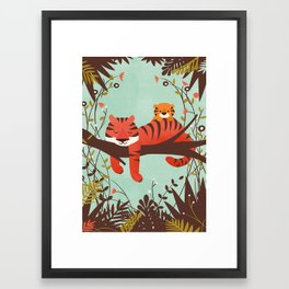 Sleeping Tiger Framed Art Print