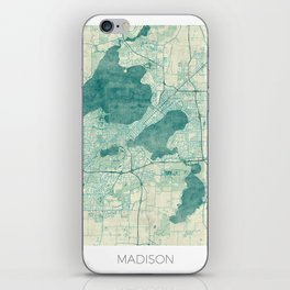 Madison Map Blue Vintage iPhone Skin