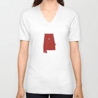 alabama V-neck T-shirts featuring Alabama by Hunter Ellenbarger