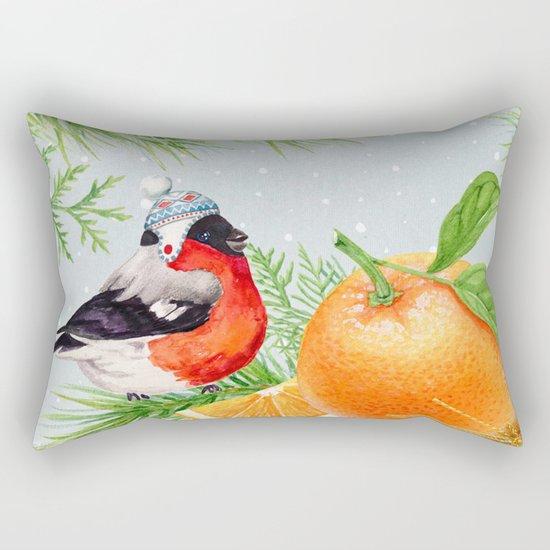 Winter animal #9 Rectangular Pillow