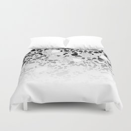 Concrete Terrazzo and Black and White Modern Monochrome Design Duvet Cover