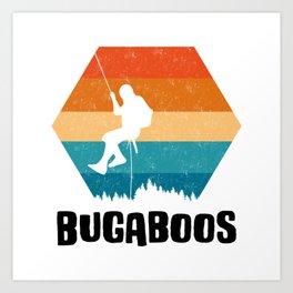 Climbing Gift Tee Climber TShirt Bouldering Shirt Bugaboos Rock Climbing TShirt  Art Print