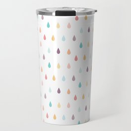 colorful rain Travel Mug