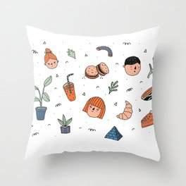 Doodles Throw Pillow