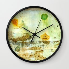 Drifting, Abstract Landscape Art Painting Wall Clock