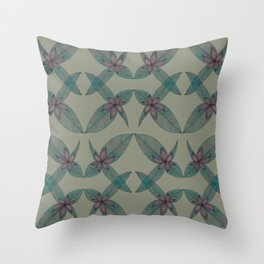 LINED FLORAL Throw Pillow