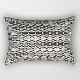 Decorative Triangles Pattern Rectangular Pillow