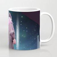 sassy Mugs featuring Sassy Unicorn by Jessica LeClerc Illustration