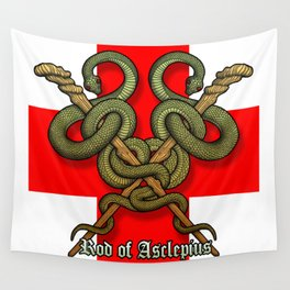 Rod of Asclepius4 Wall Tapestry