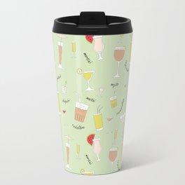 Cocktails pattern Travel Mug