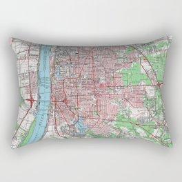 Vintage Map of Baton Rouge Louisiana (1963) Rectangular Pillow