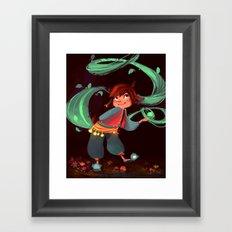 Little magic in the woods Framed Art Print