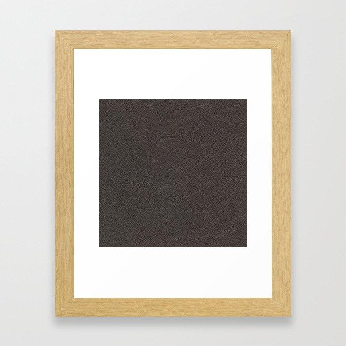 Leather texture Framed Art Print