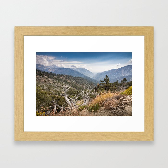 Inspiration Point along Pacific Crest Trail Framed Art Print